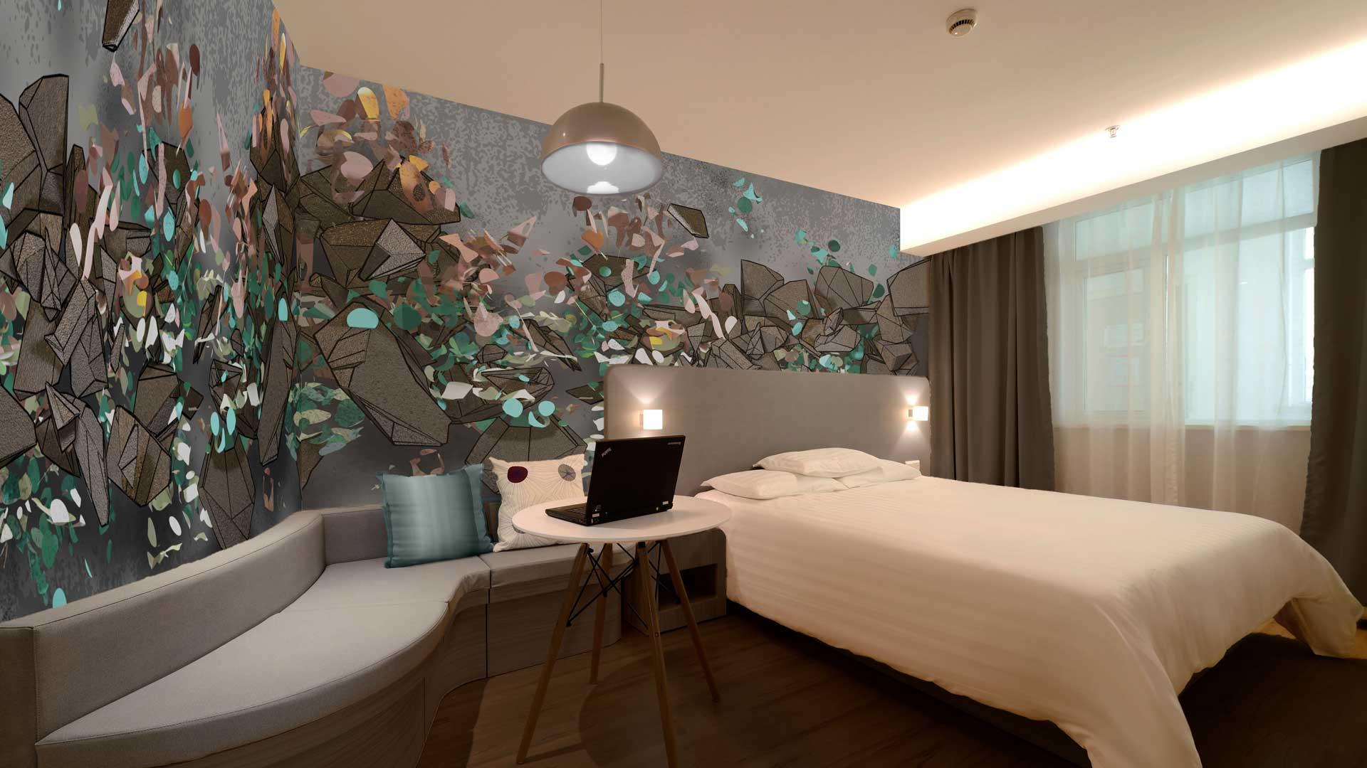 hotel kamer wand art boutique